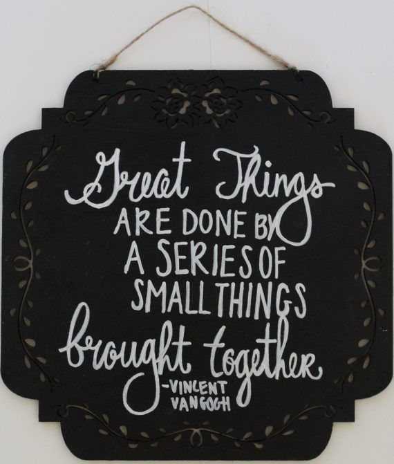 Vincent Vangogh Quote Wood Painting